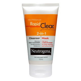 Image for Neutrogena Rapid Clear 2-in-1 Cleanser Mask - 150mL from Amcal