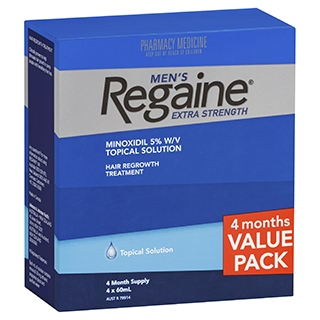 Image for Regaine Solution Mens Extra Strength 4 For 3 from Amcal
