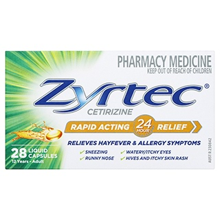 Image for Zyrtec Rapid Acting Liquid - 28 Capsules from Amcal