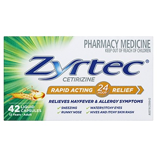 Image for Zyrtec Rapid Acting Liquid - 42 Capsules from Amcal