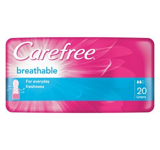 Image for Carefree Breathable Liners - 20 Pack from Amcal