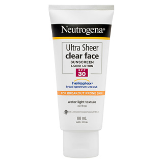 Image for Neutrogena Ultra Sheer Clear Face Lotion SPF 30 - 88mL from Amcal