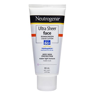 Image for Neutrogena Ultra Sheer Face & Body Lotion SPF 50 - 88mL from Amcal
