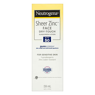 Image for Neutrogena Sheer Zinc Face Dry-Touch SPF50 Sunscreen - 59mL from Amcal