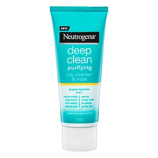 Image for Neutrogena Deep Clean Purifying Clay Cleanser & Mask - 100g from Amcal