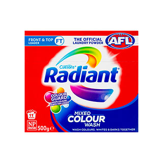 Image for Radiant Mixed Colour Wash Laundry Powder - 500g from Amcal