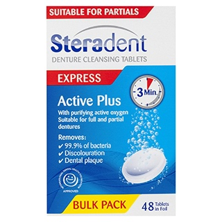 Image for Steradent Active Plus - 48 Tablets from Amcal