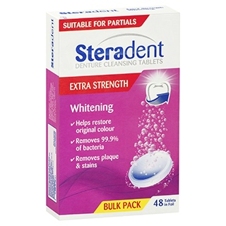 Image for Steradent Extra Strength Whitening - 48 Tablets from Amcal