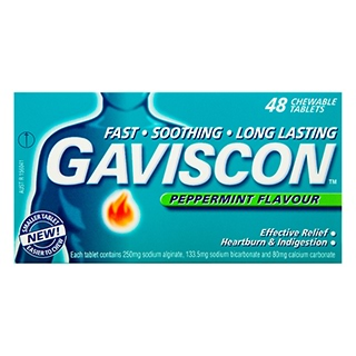 Image for Gaviscon Chewable Tablets Peppermint Flavour - 48 Pack from Amcal