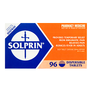 Image for Solprin 300mg Dispersible - 96 Tablets from Amcal