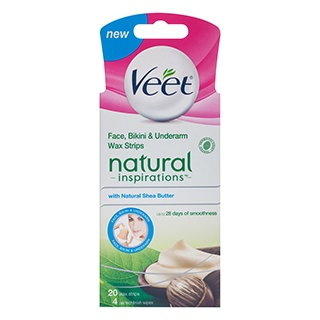 Image for Veet Naturals Face Wax Strip - 20 Pack from Amcal