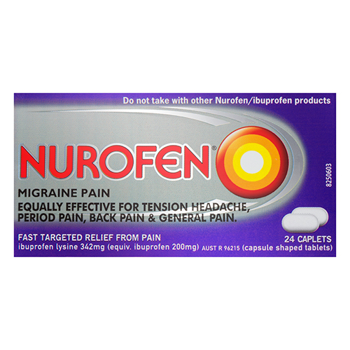 Image for Nurofen Migraine Pain Caplets - 24 Pack from Amcal