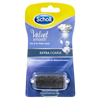 Image for Scholl Velvet Smooth Wet and Dry Roller Heads Extra Coarse - 1 Pack from Amcal