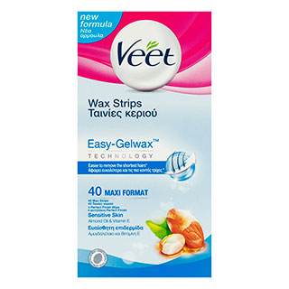 Image for Veet Sensitive Wax Strips - 40 Pack from Amcal
