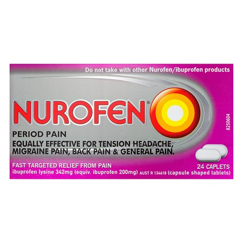 Image for Nurofen Period Pain Caplets - 24 Pack from Amcal
