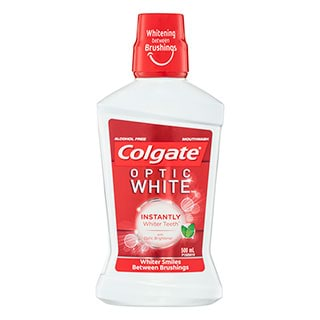 Image for Colgate Optic White Mouthwash Sparkling Fresh Mint - 500ml from Amcal