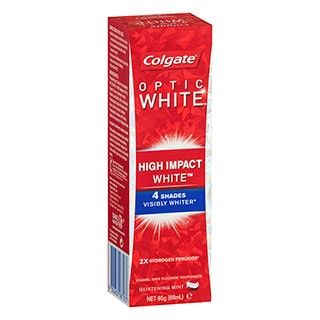 Image for Colgate Optic White High Impact White Toothpaste Glistening Mint - 85g from Amcal