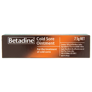Image for Betadine Cold Sore Ointment - 7.5g from Amcal