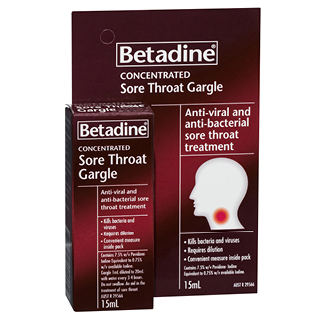 Betadine Sore Throat Gargle - 15mL
