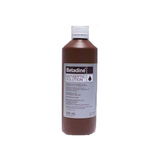 Image for Betadine Antiseptic Solution - 500mL from Amcal
