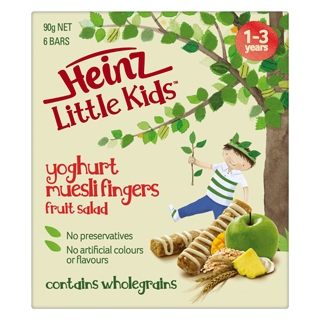 Image for Heinz Little Kids Fruit Salad Muesli Fingers - 90g from Amcal