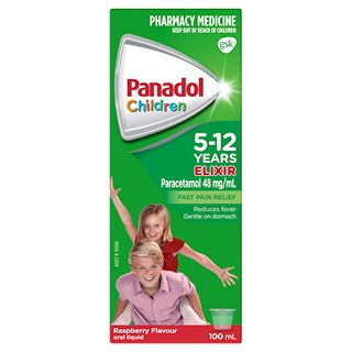 Image for Panadol Child 5-12 Years Elixir Raspberry - 100mL from Amcal