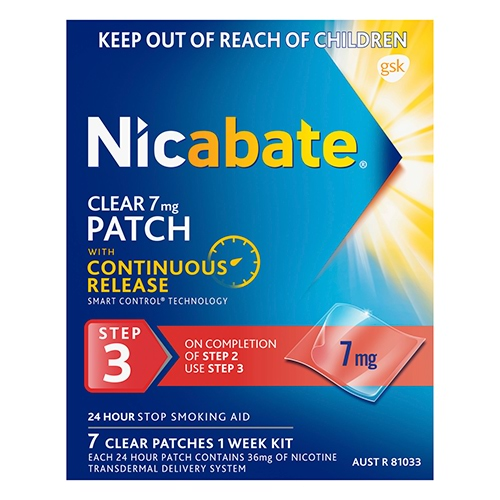 Image for Nicabate Clear Patch 7 Mg Step 3 - 7 Pack from Amcal