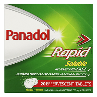 Image for Panadol Rapid Soluble - 20 Tablets from Amcal