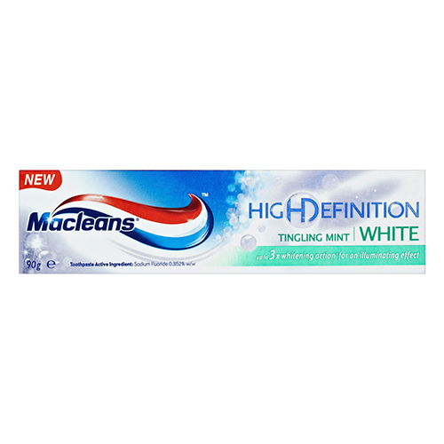 Image for Macleans High Definition Tingling White Toothpaste - 90g from Amcal