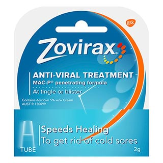 Image for Zovirax Antiviral Cold Sore Cream Tube - 2g from Amcal