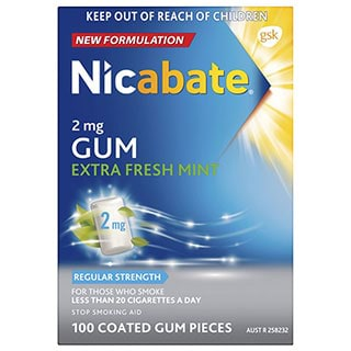 Image for Nicabate Gum Extra Fresh 2mg - 100 Pack from Amcal