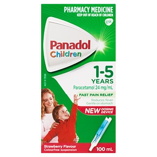 Image for Panadol Child 1-5 Years Strawberry 100mL from Amcal