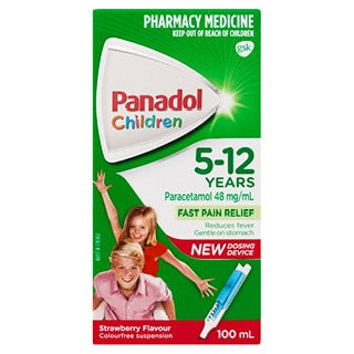 Image for Panadol Child 5-12Yr Strawberry - 100mL from Amcal