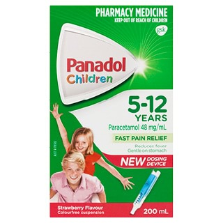 Image for Panadol Child 5-12 Years Strawberry 200ml from Amcal