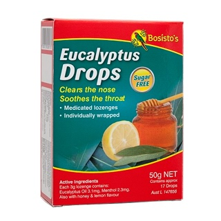 Image for Bosisto's Eucalyptus Sugar Free Drops - 50g from Amcal
