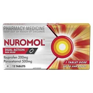 Image for Nuromol Double Action Pain Relief - 12 Tablets from Amcal
