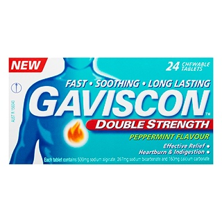 Image for Gaviscon Double Strength Peppermint Flavour Chewable - 24 Tablets from Amcal