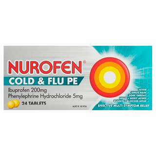 Image for Nurofen Cold & Flu PE - 24 Tablets from Amcal