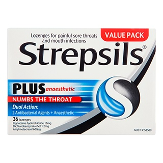 Image for Strepsils Plus Lozenges - 36 Pack from Amcal