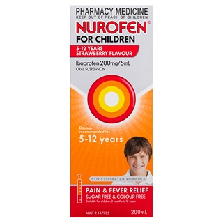 Image for Nurofen For Children 5-12 Years Strawberry 200ml from Amcal