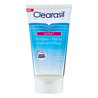 Image for Clearasil Ultra Pimples plus Marks Wash and Mask - 150mL from Amcal
