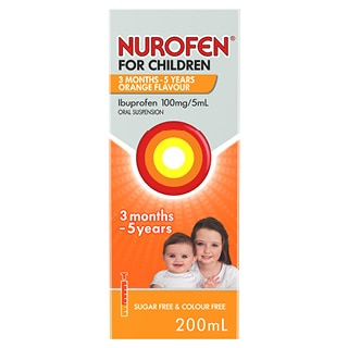 Image for Nurofen For Children Suspension 1-5 Years Orange - 200Ml from Amcal