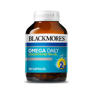 Blackmores omega daily concentrated fish oil 90 capsules for Daily fish oil