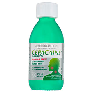 Image for Cepacaine Mouth Wash Solution - 200ml from Amcal