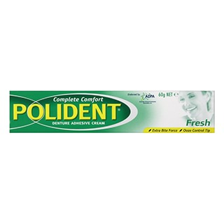 Image for Polident Fresh Mint Denture Adhesive Cream - 60g from Amcal