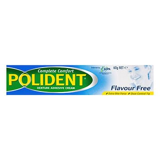 Image for Polident Flavour Free Denture Adhesive Cream - 60g from Amcal