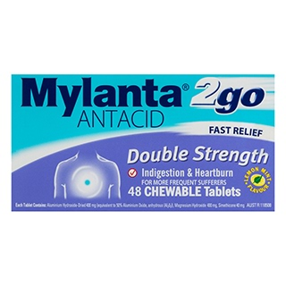 Image for Mylanta 2 Go Double Strength Chewable Tablets - 48 Pack from Amcal
