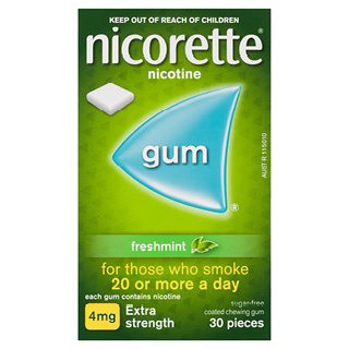 Image for Nicorette Gum 4mg Freshmint - 30 Pack from Amcal
