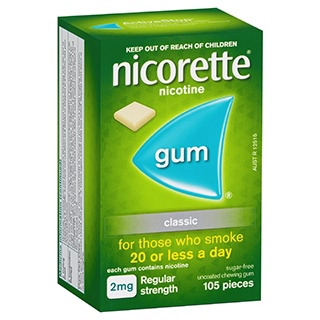 Image for Nicorette Gum 2mg Classic - 105 Pack from Amcal