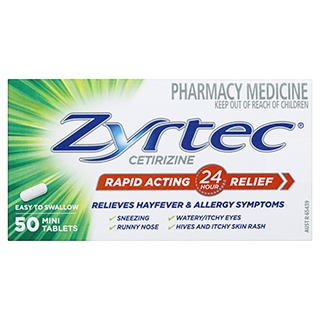 Image for Zyrtec 10mg - 50 Tablets from Amcal